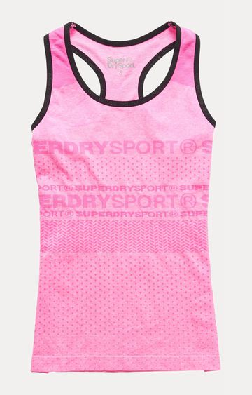 Superdry | Superdry Sport Seamless Pink Tank Top