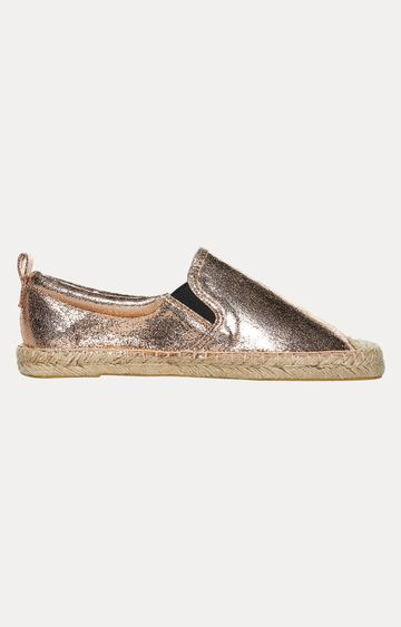 Superdry | Rose Gold Crackle Casual Slip-ons