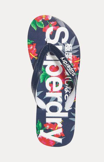 Superdry | Blue and Red Flip Flops