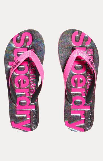 Superdry | Iridescent Charcoal Marl Flip Flops