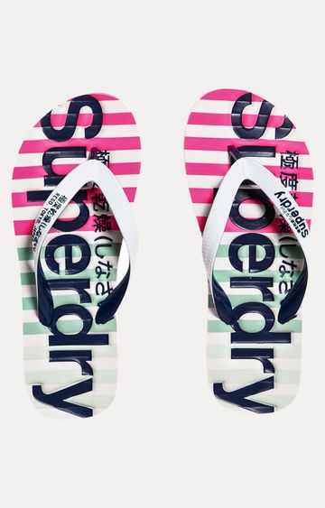 Superdry | Optic White and Miami Ombre Flip Flops