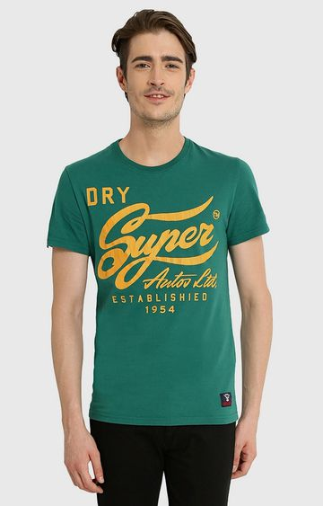 Superdry | Green Printed T-Shirt