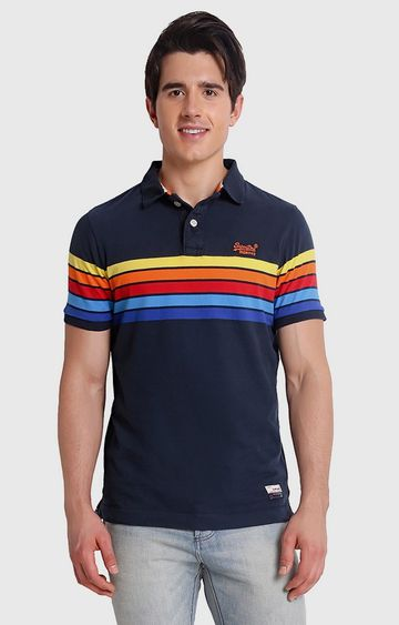 Superdry | Navy Patterned T-Shirt