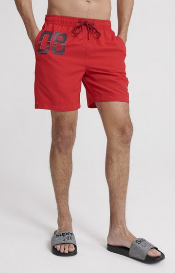 Superdry | Flag Red Waterpolo Swim Shorts