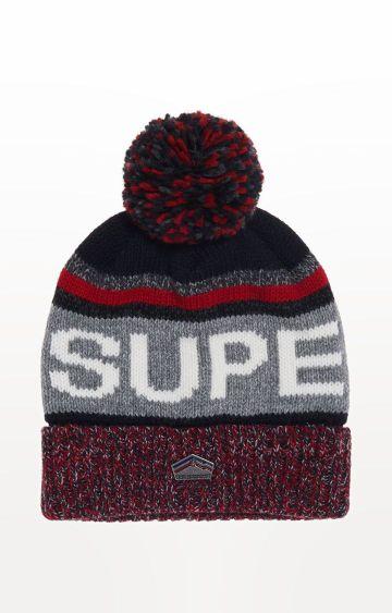 Superdry | Grey Printed Beanie