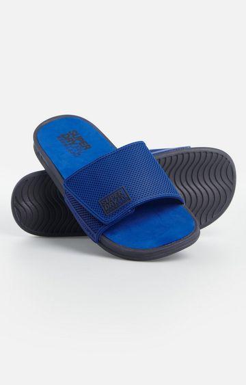 Superdry   True Blue Premium Crewe Velcro Slide