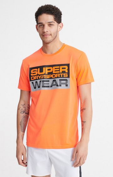 Superdry | Bright Havana Orange Streetsport Graphic T-Shirt
