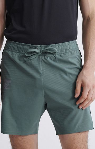 Superdry | Sagebrush Green Training Double Layer Shorts