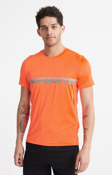 Superdry | Bright Havana Orange Marl Training Lightweight T-Shirt