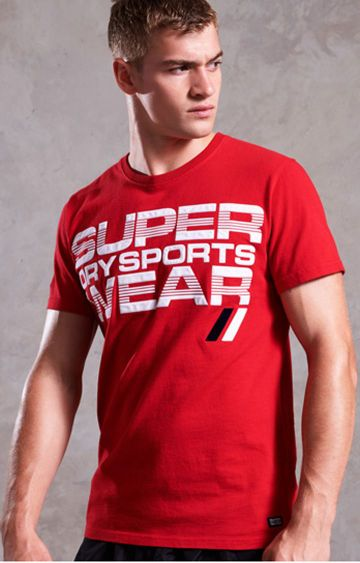 Superdry | Sport Red Printed T-Shirt