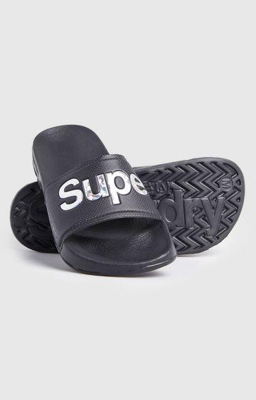 Superdry | Black Holo Infil Pool Slide