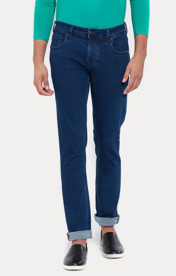 LAWMAN Pg3 | Blue Solid Straight Jeans