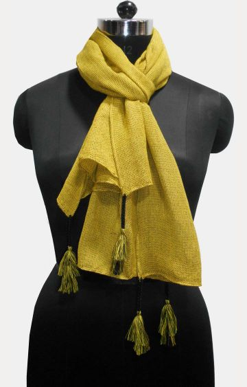 Get Wrapped | Yellow Solid Scarf