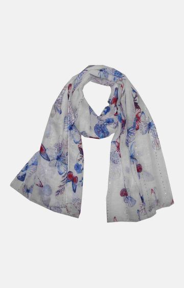 Get Wrapped | Blue Printed Scarf