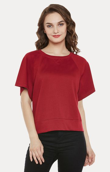 MISS CHASE | Maroon Solid Top