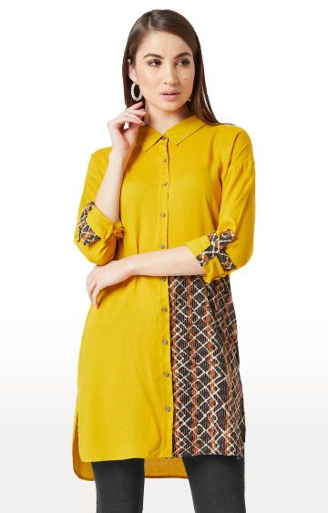 MISS CHASE   Yellow Printed Tunic