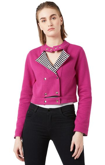 MISS CHASE | Pink Solid Jacket