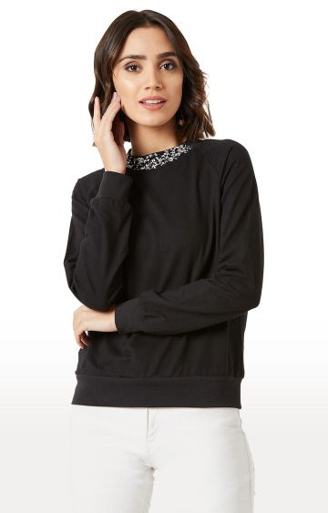 MISS CHASE | Black Solid Top