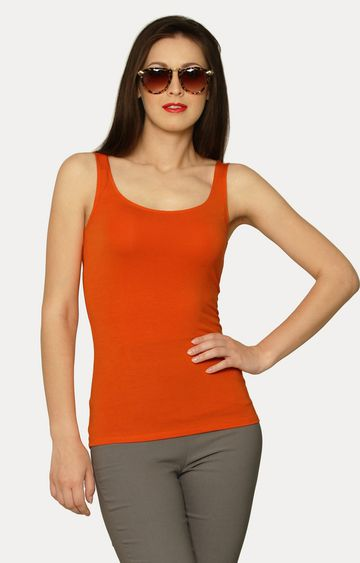 MISS CHASE | Orange Out Of Line T-Shirt