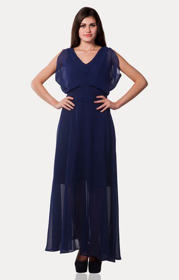MISS CHASE | Dark Blue Midnight Madness Maxi Dress