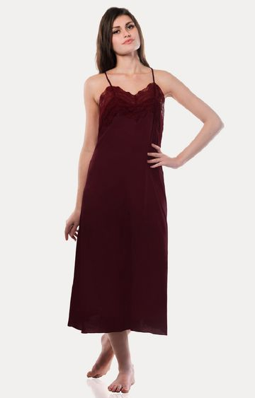 MISS CHASE | Maroon Maxi Dress