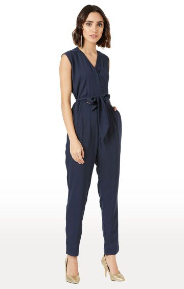 MISS CHASE | Navy Solid Jumpsuit