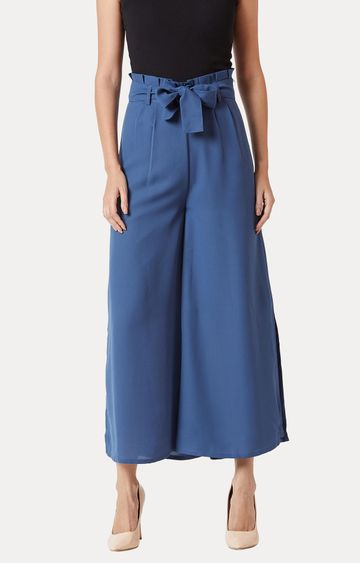 MISS CHASE   Blue Solid Palazzos