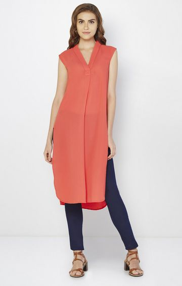 AND | Tangerine Solid Tunic