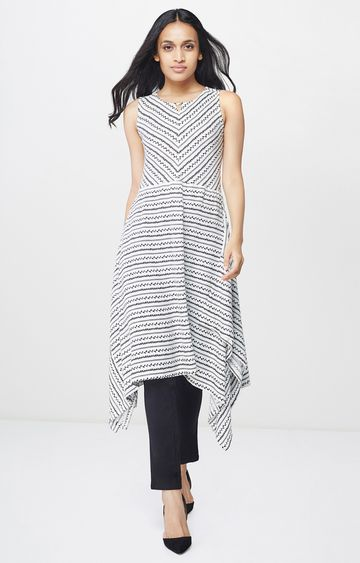 AND | Black and White Printed Tunic