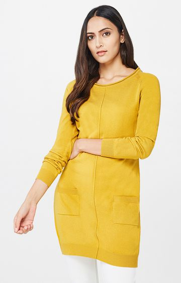 AND | Mustard Solid Tunic