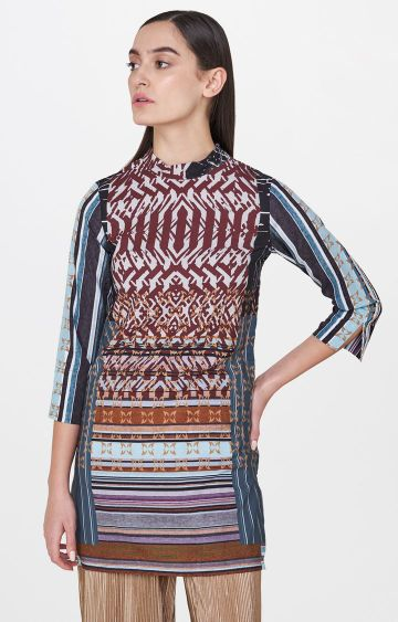 AND | Multicoloured Printed Tunic