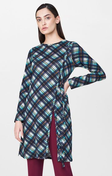 AND | Blue Checked Tunic