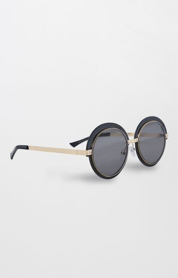 AND | Black Round Sunglasses