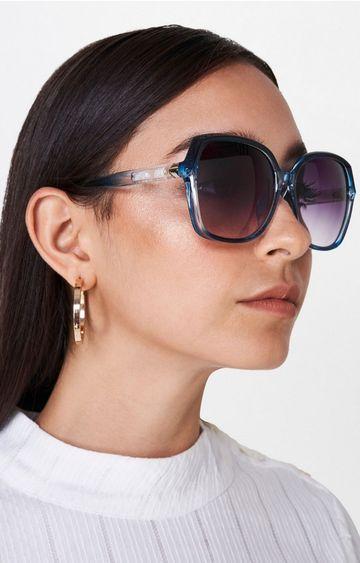 AND   Blue Oversized Sunglasses