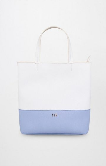 AND   White and Blue Tote