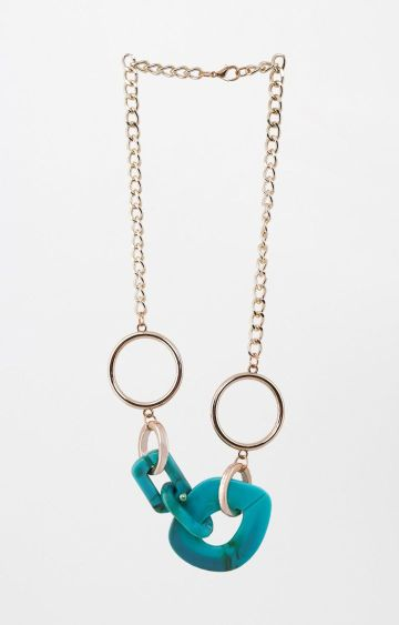AND | Gold and Aqua Statement Necklace