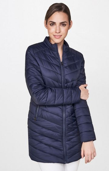 AND | Navy Solid Bomber Jacket