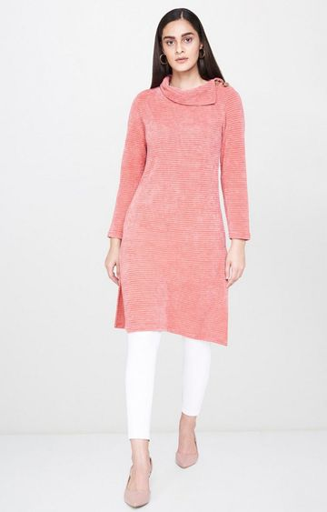AND | Coral Solid Tunic