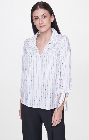 AND | White Striped Top