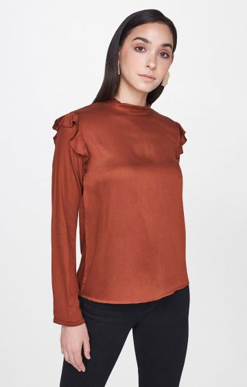 AND | Brown Solid Top