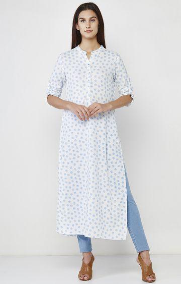 AND | White Printed Tunic