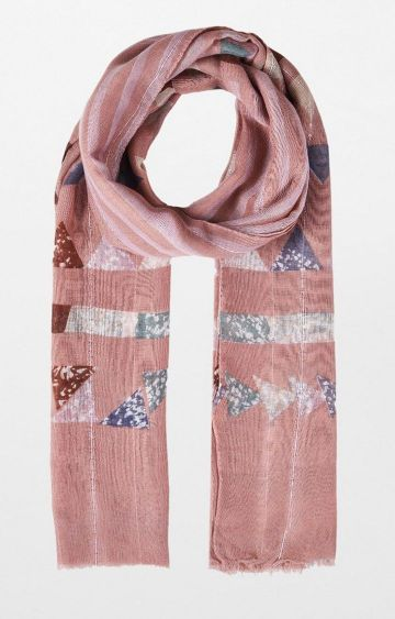 AND | Pink Printed Scarf