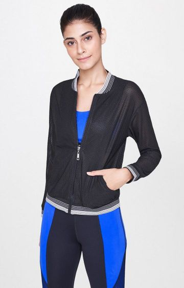 AND | Black Solid Activewear Jacket