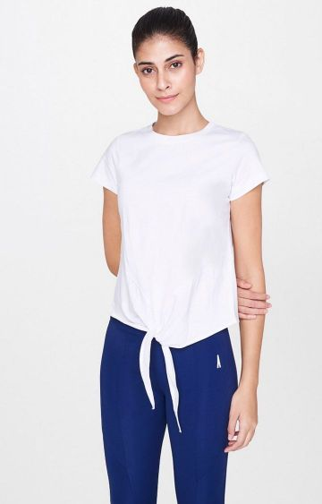 AND | White Solid T-Shirt