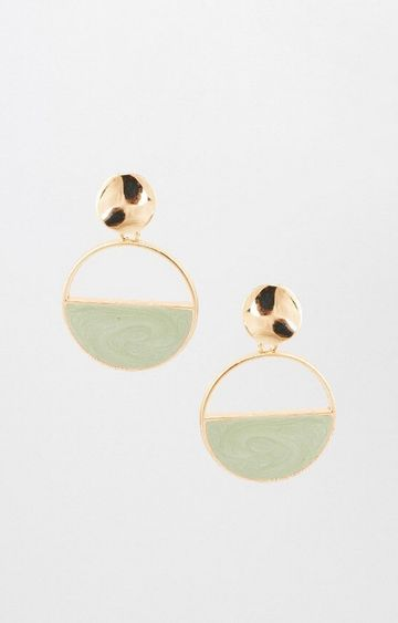AND | Green Dangle and Drop Earrings