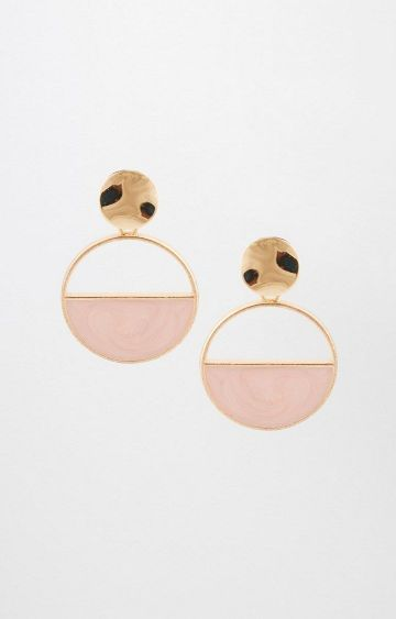 AND | Pink and Gold Dangle and Drop Earrings