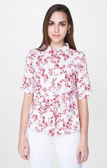 AND | White Printed Top