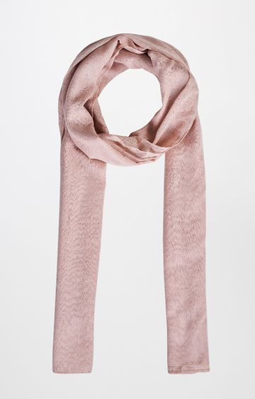 AND | Peach Printed Scarf