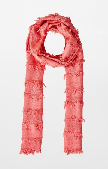 AND | Peach Solid Scarf