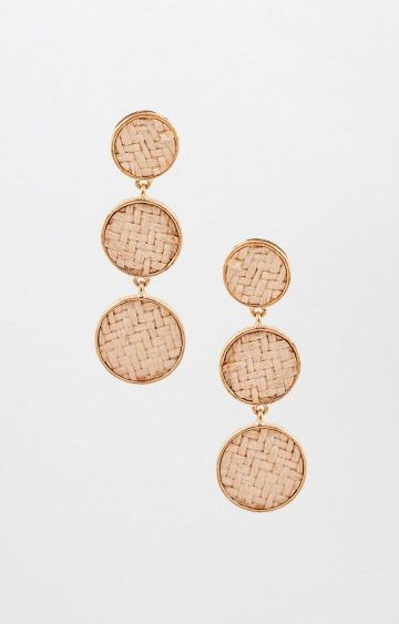 AND | Beige Dangle and Drop Earrings